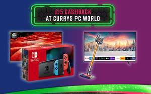 £15 cash back at Curry's if you spend over £15 for new Topcashback members