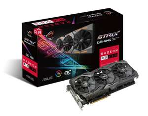 Asus Radeon RX 580 ROG STRIX OC 8GB Graphics Card for £164.99 (Possibly £109.99 after cashback) plus games @ Ebuyer