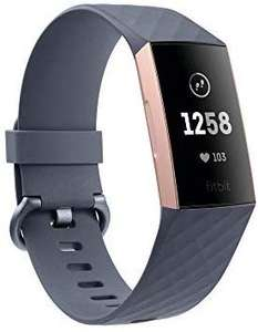 Black Fitbit Charge 3 Advanced Fitness Tracker with Heart Rate, Swim Tracking & 7 Day Battery - Rose-Gold/Grey, One Size £79.99 @ Amazon