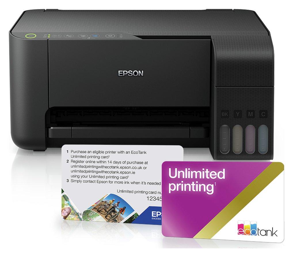 Epson EcoTank ET-2710 Wireless Printer, Unlimited Print Card £169.99 Argos