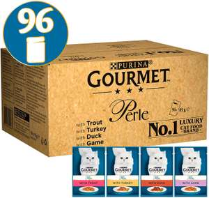 Gourmet Wet Cat Food Perle Country Medley 96 x 85g £23.99 at Amazon Black Friday Daily Deal