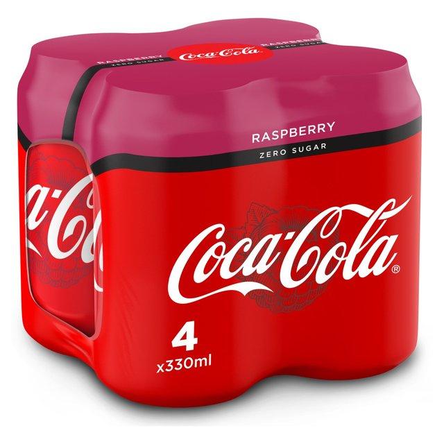 4 x 330ml Coca Cola Zero Raspberry. Just 79p. @ Heron Foods Abbey Hulton