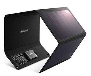 RAVPower Dual USB 28W Solar Charger. £51.34 delivered amazon prime / £64.99 non prime Sold by Sunvalleytek-UK and Fulfilled by Amazon