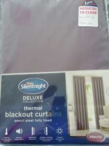Reduced Silent night curtains £2.50 in store B&M (Normanton)