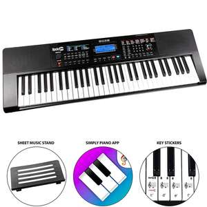 RockJam RJ461AX 61-Key Alexa Portable Digital Piano Keyboard £67.99 @ Amazon