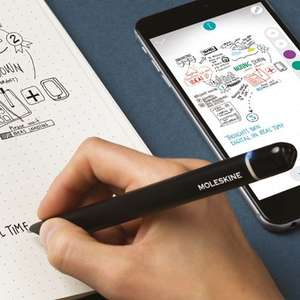 Moleskine, Smart Writing Set, Notebook and Pen + Smartpen, Notebook with Black Hard Cover - £99.99 @ Amazon