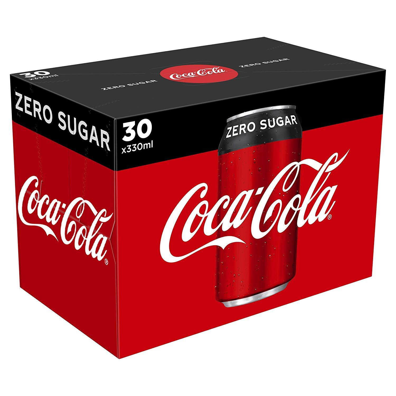 30 cans Coke Zero £7.50 (£15 minimum + £3.99 delivery) @ Amazon Pantry