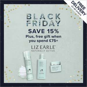 15% Off + Free Delivery + Free Daily Skincare Discovery Collection worth £30 when you spend £75+ @ Liz Earle