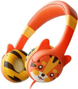 Kidrox Tiger-Ear Kids Headphones - Wired Headphones for Kids £11.49 with Code @ Seventh Continent and Fulfilled by Amazon.
