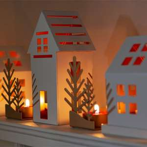 3 Piece Official Yankee Candle Tealight Winter Village Luminary Festive Set £13.00 @ Yankee Bundles Plus Free Delivery