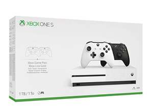 Xbox One S 1TB Console - Two-Controller Bundle £179.99 @ Amazon
