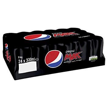 Pepsi Max, Cherry & Diet 24 Pack - £5.00 at Tesco