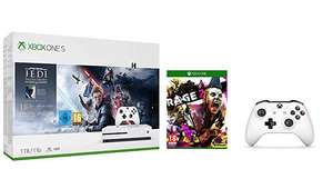 Xbox One S 1TB Console - Star Wars Jedi: Fallen Order Bundle & Extra Controller & Rage 2 - £209.99 delivered @ Amazon