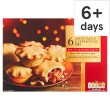 Tesco 6 Spiced Apple & Clementine Pies. Iced Top Mince Pies or Lattice Top Mince Pie - Any 2 for £2.00