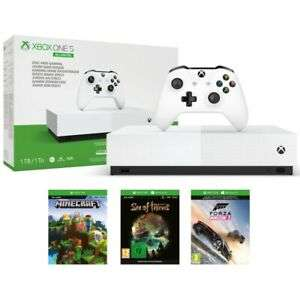 Microsoft Xbox One S All Digital Console with Sea of Thieves, Minecraft and Forza Horizon 3 - £99.00 - eBay/Yoltso