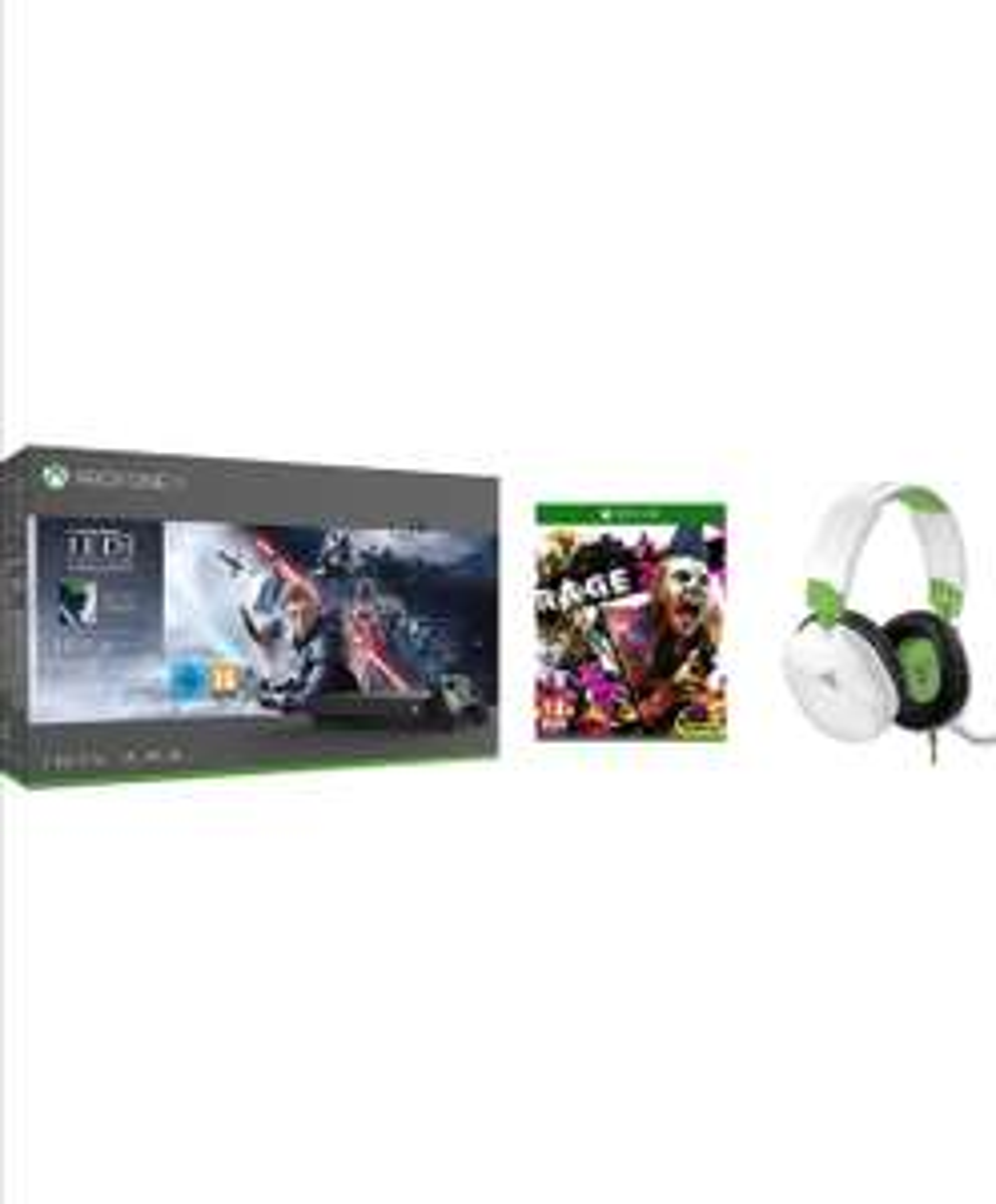 Xbox One X Console - Star Wars Jedi: Fallen Order + Rage 2 + Turtle Beach Recon 70X White Gaming Headset - £319.99 Delivered @ Amazon