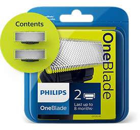 Two replacement blades for Philips OneBlade £9.89 delivered via new customer sign up @ Philips (£19.79 Else)