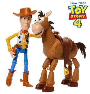 Disney GDB91 Pixar Toy Story 4 Woody and Bullseye Movie-inspired Relative-Scale for Storytelling Play, 2-figure pack £15 + £4.49 NP @ Amazon