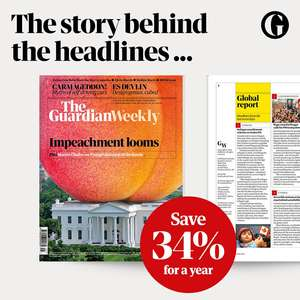 The Guardian Weekly magazine 1-year for £99