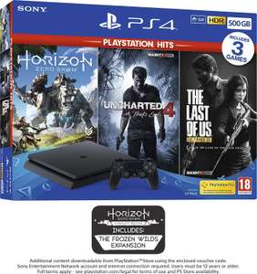 PS4 500GB with 3 PS Hits Game Bundle £199.99 @ Amazon