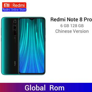 Redmi Note 8 Pro 6GB 128GB in Green China Version / Standard Free Delivery £162.45 @ Ali express Redmi Online Store
