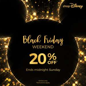 20% off selected items in the Black Friday Weekend Price Drop @ Shop Disney