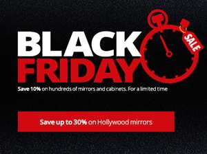 Deals on Hollywood Mirrors, bathroom mirrors and cabinets save upto 30% @ Illuminated mirrors