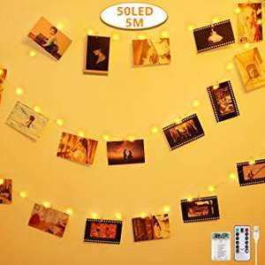 Photo Clip String Lights - Sold by Pttengcheng / Fulfilled by Amazon - £7.19 Prime (+£4.49 non-Prime)