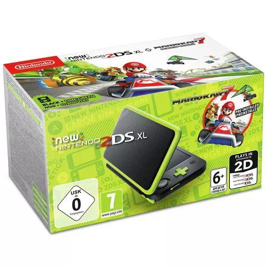 Nintendo 2DS XL Console with Mario Kart 7 - Black / Green £94.99 @ Argos