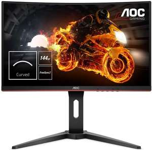 "AOC C24G1 24"" Curved VA LED HD FreeSync 144Hz Adjustable Gaming Monitor £134.99 @ Amazon"