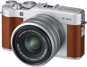 Fujifilm X-A5 Mirrorless Digital Camera, Brown with Fujinon XC15-45mm Optical Image Stabilisation Power Zoom Lens Kit - £299 @ Amazon