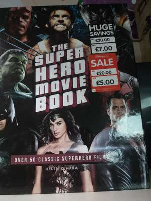 The Super hero movie book £5 at the Works (online with free click and collect and instore)