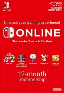 Nintendo Switch Online 12 Month (365 Day) Membership £14.85 @ Shopto