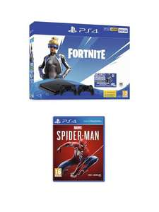 PS4 500GB Fortnite Neo Versa with Second DualShock Bundle and Marvel's Spider-Man with Optional Extras £199.99 @ Very