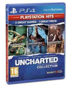 Uncharted Collection PlayStation Hits (PS4) for £7.99 Prime/+£2.99 Non Prime @ Amazon UK