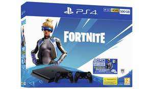 SONY PS4 PlayStation 4 500GB with Fortnite Neo Versa & Two Wireless Controllers & FREE Game £199.99 @ Argos (3% Quidco)