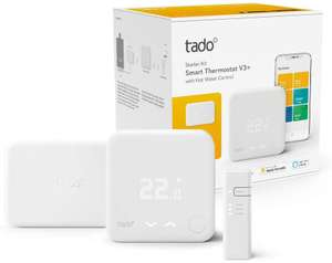 tado° Smart Thermostat Starter Kit V3+ with Hot Water Control, Includes tado° Extension Kit, Wireless Receiver £131.70 @ Amazon