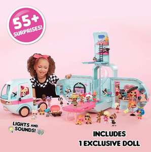 L.O.L. Surprise! 2-in-1 Glamper Fashion Camper with 55+ Surprises & Free Delivery £71.99@ Amazon