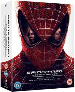 Spider-Man Legacy Collection Limited Edition Blu-ray - Spiderman 1-3, The Amazing Spiderman 1 & 2 £17.99 w/prime / £20.98 Non-prime @ Amazon