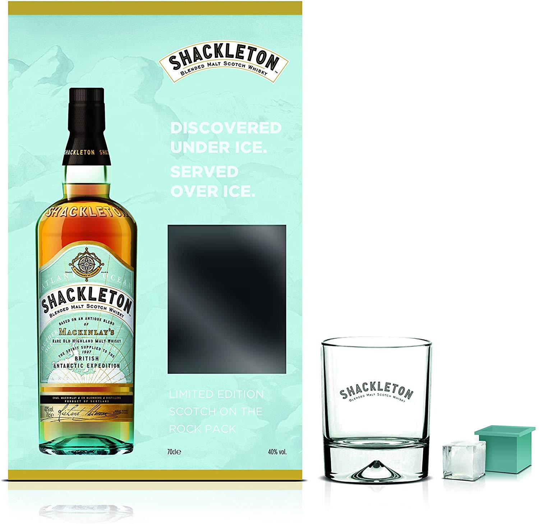 Shackleton Blended Malt Scotch Whisky Limited Edition Scotch On The Rocks Pack 70 cl £18.99 @ Amazon
