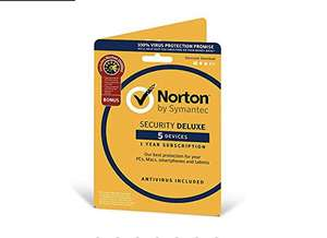 Norton Security Deluxe 2019 | 5 Devices + Utilities| 1 Year