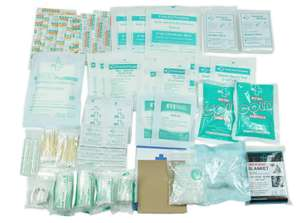 160 Piece First Aid Kit Bag Refill Kit - Includes 2 x Eyewash,2 x Instant Cold Pack, Bandage, 6 x Cleaning Towelette was £19.99 now £7.25