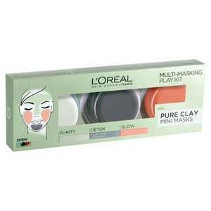 L'Oréal Multi Masking Play Kit £2.55 with code and free click and collect @ Lloyds Pharmacy