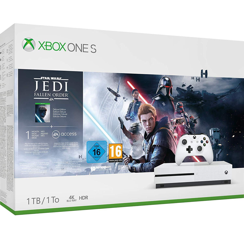 Xbox One S Console, 1TB, Wireless Controller & Star Wars Jedi, Fallen Order Deluxe Bundle £169.99 @ John Lewis & Partners (2 yrs guarantee)