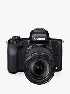 Canon EOS M50 Compact System Camera with EF-M 18-150mm f/3.5-6.3 IS STM lens - £699 @ John Lewis & Partners