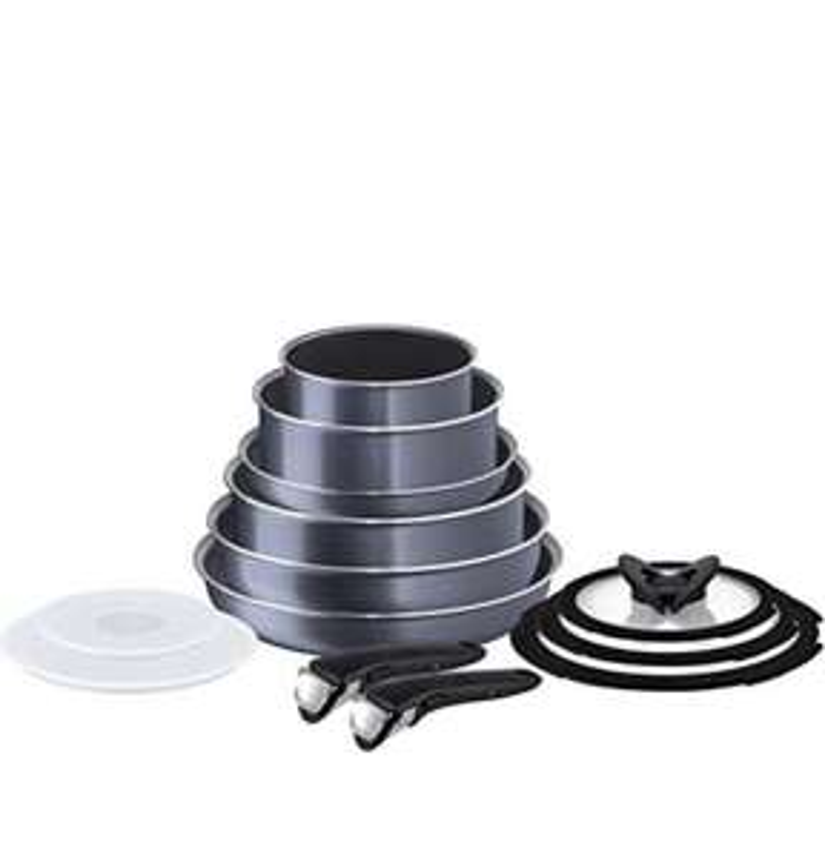 Tefal Ingenio Non-stick Elegance Cookware Set, 13 Pieces, Black £79.99 @ Amazon