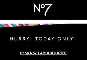 Boots Black Friday today only online - no7 laboratories £17 with 10% students discount