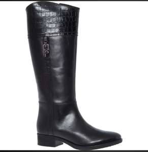 GEOX Black Knee High Boots £39.99 free click and collect @ Tk Maxx