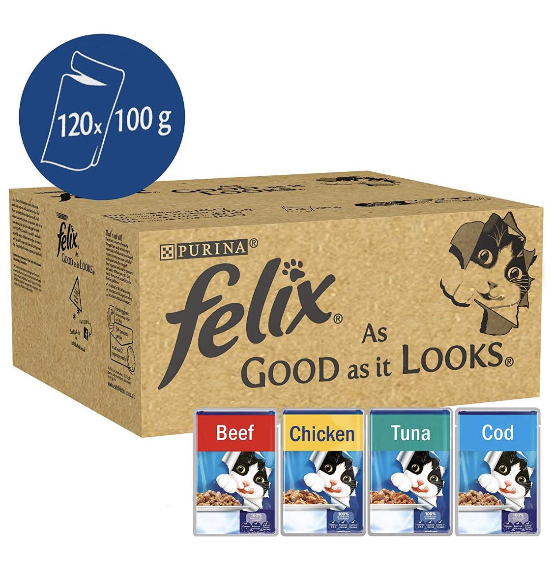 120 pouches Felix 'As Good As It Looks' £22.79 @ Amazon