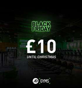 £10 until Christmas at JD Gyms